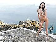 Bysya A Is On The Top Letting Everyone Above Admire Her Bare Milk Cans And Trimmed Wet Crack