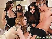 Fetish Group Babe Spunked