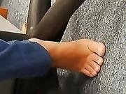 Candid Stinky Soft Feet On Work Plus Candid Soles On Bus