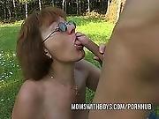ass ,  blowjob,  boys,  cumshot,  deepthroat,  european,  facial,  fucking,  glasses,  mature,  milf,  mom ,  old ,  redhead,  sandwich,  swallow,  young