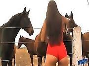 The Hot Lady Horse Whisperer - Amazing Body Latina 10 Ass