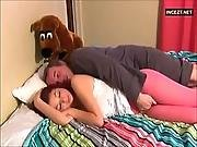 cream,  creampie,  dad ,  daughter,  old ,  redhead,  teen,  young