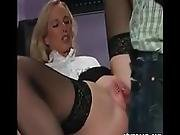 Milf In Stockings Fucked In Pierced Pussy   More Video On Stumpcam.com