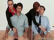 Classy Cfnm Handjob Experts At Work