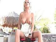 Big Titty Milf Loves Sticking The Big Rocker Cock In Her