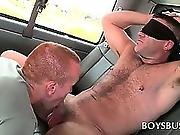 blindfold,  blowjob,  bus ,  dick,  gay ,  hardcore,  muscled,  oral,  sucking
