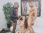 Angry Redhead Milf Sucks Black Dicks And Gets Double Penetrated