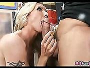 Artist Gets Fit Blonde Milf Pussy