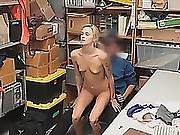 Spoiled Blonde Bitchy Girlfriend Demand Sex At The Store
