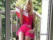 Sasha blonde masturbating on balcony