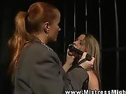 bdsm,  cage,  dominatrix,  dyke,  femdom,  fetish,  guard,  lesbian,  mistress,  petite,  punish,  submissive