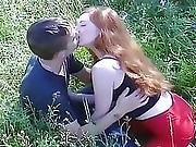 Redhead Russian Teen Babe Outdoor Suck And Fuck W Boy