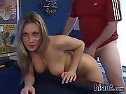 big boob,  blonde,  boob,  cumshot,  facial,  glasses,  pov