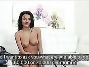 Busty Czech Waitress Fucks In Casting