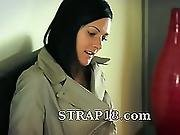 Two Smart Amazing Lesbians Using Strap