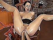 Her First Double Anal Fist