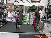 Ebony Pawnshop Babe Fucked In Pussy By Broker