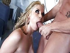 asian,  big tit,  blonde,  blowjob,  couple,  cream,  deepthroat,  heels,  high heels,  jewish,  oral,  sex ,  shaved,  vaginal