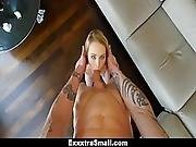 Exxxtrasmall - Spunky Blonde Gets Tight Pink Pussy Rammed