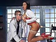 Busty Doctor Jenna Foxx Fucks A Huge Sex Toy