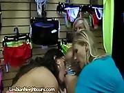 Skank Sluts Undress In Clothing Store