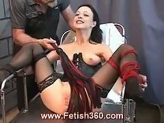 bdsm,  bondage,  brunette,  clamped,  fetish,  pussy,  toys,  whip