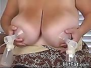 Pumping Breast Milk From Big Tits