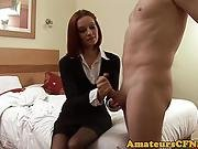 Redhead Cfnm Babe Jerking Dick In Amateursex