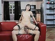 Shae Celestine Got Her Pussy Stretch With Large Massive Dick