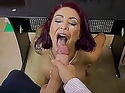 Superb Office Facial For Breasty Monique Alexander