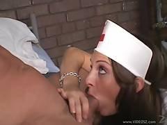 Alluring Nurse Jordan Oneil Gobbles Down A Hard Prick
