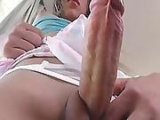 Hot Shemale Allicia Nogueira Masturbates