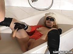The Piss Drinking Slutwife Gets Used In The Tub