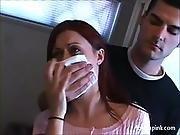 Brunette girl is chloroformed groped and undressed