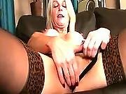 Mature Emma Jane Toying Her Fresh Clit With Dildo
