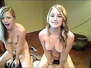 Two Blond Girl Sybian Show Www.livenastygirls.com