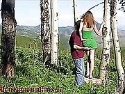 Hot Old Young Couple Exchanges Oral Favors Outdoors