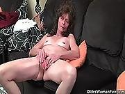 granny,  hairy,  hairypussy,  masturbation,  mature,  milf,  pussy,  saggy tits