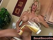 ass ,  blonde,  bus ,  busty,  cunt,  food,  petite,  shaved,  smoothie,  speculum