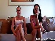balls,  bdsm,  blonde,  brunette,  gorgeous