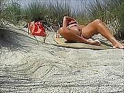 Nice Voyeur Lady In Beach