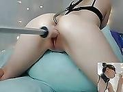 American Cam-slut With A Hook In The Ass Squirts