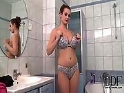 bath,  bathroom,  bathtub,  big tit,  brunette,  czech,  foot,  glamour,  juggs,  lingerie,  natural,  pussy,  shower,  trimmed,  tub