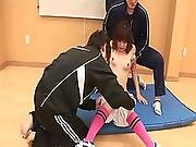 Young Japanese Skank Pleasuring Cock With Her Feet