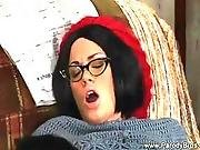 Lady In Eyeglasses Hates Pussy Sucking