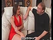 Sexy Lady In Red Double Fucked At Dirty D%5C%27s