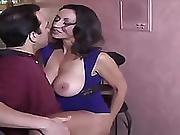 Hunk Licks Busty Milfs Cunt Before She Sucks Him