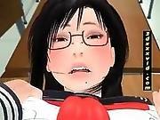3D Hentai Schoolgirl Gets Fucked Upskirt
