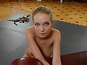 Amazing Girl With Tied Hands Does A Blowjob