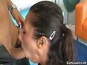 Slutty Teenie  Girls 28 Enjoys A Big Pole In Her Tight Cunt